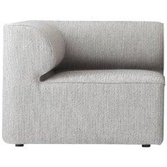 "Eave Modular, Corner, Kvadrat's ""Steelcut 2"" #160 Fabric, Grey"