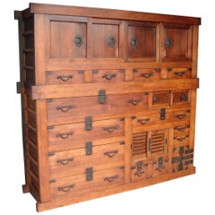 Large Scale 19th Century Japanese Cabinet