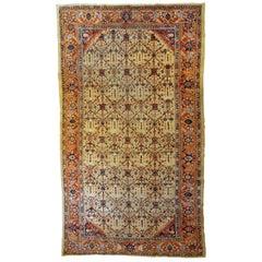 Handmade Antique Persian Mahal Rug, 1900s