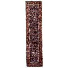 Handmade Antique Persian Bakshaish Runner, 1880s