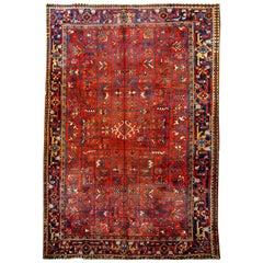 Handmade Antique Persian Heriz Rug, 1900s