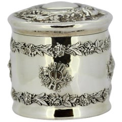 Tiffany & Co. Sterling Silver Tea Caddy, USA, 1885