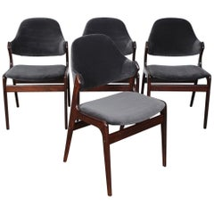 Set of 4 1960s Danish Solid Rosewood Dining Chairs by Gern Mobelfabrik