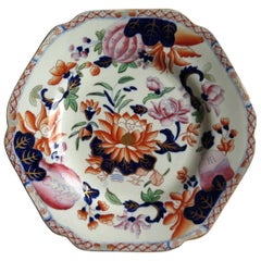 Early Hicks and Meigh Ironstone Plate or Dish in Water Lily Pattern No.5