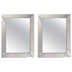 Pair of Art Deco Shadow Box Wall or Console Mirrors