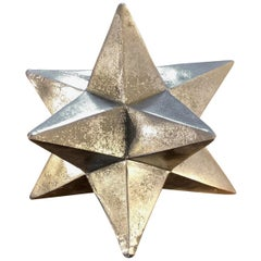 12-Point Silver Painted Wooden Star