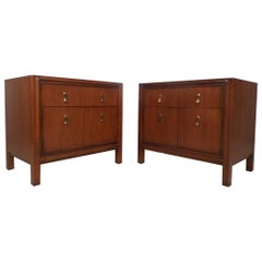 Pair of Midcentury Walnut Nightstands by Mount Airy Furniture