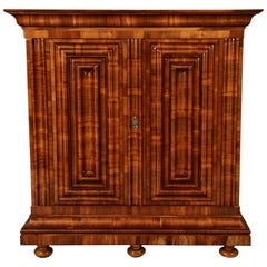Baroque Wave Cabinet, circa 1700 Walnut Cross Veneered