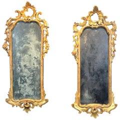 18th Century Pair of Louis XV Mirrors, Venice