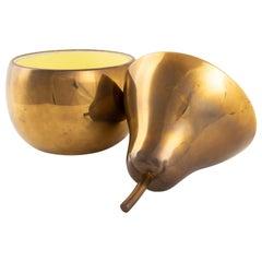 Brass Pear Ice Bucket Sottsass Inspired