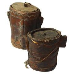 19th Century Pair of Carved Turkish Bins