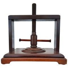 Late 19th Century Mahogany Book Press, English