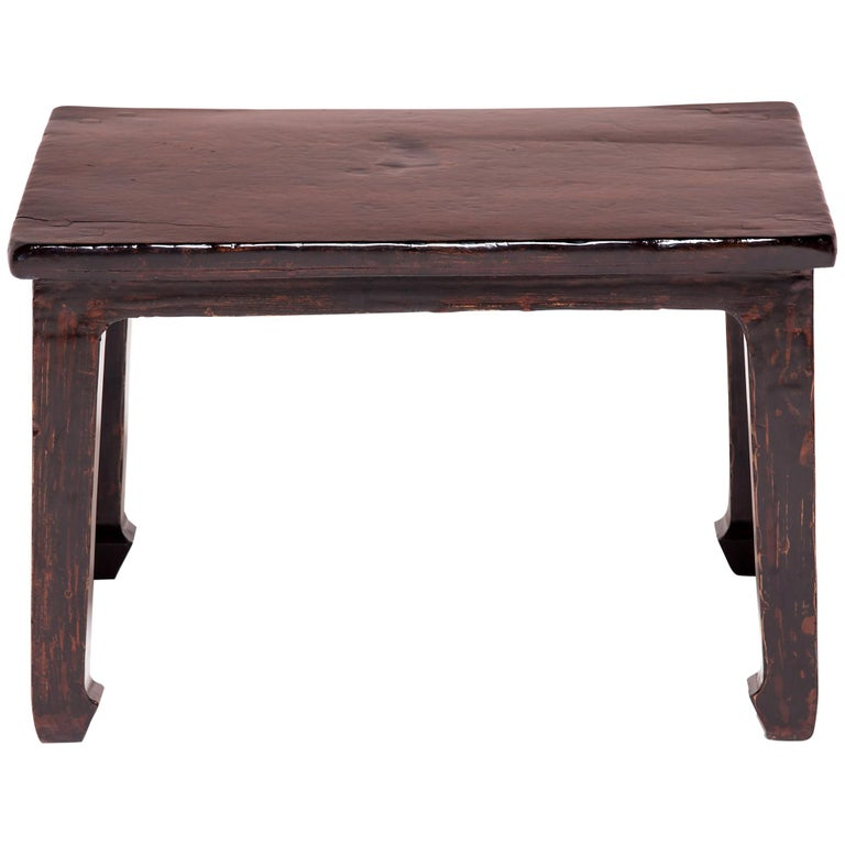 19th Century Chinese Knotty Low Table For Sale
