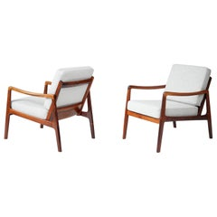 Ole Wanscher Rosewood Lounge Chairs, circa 1960