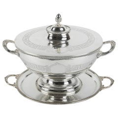 Old English Sheffield Silver Plated  / Copper Covered Tureen