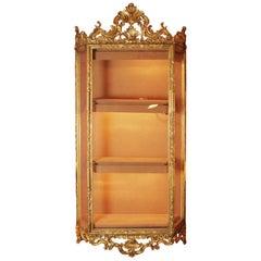 Venetian Gold Hanging Cabinet Vitrine