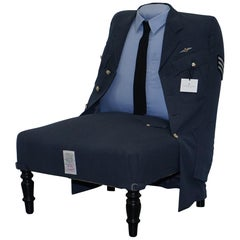 Treniq the Royal Air Force Raf Uniform Armchair Rare Unique Find