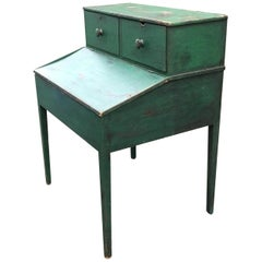 Antique American 19th Century Painted Clerks Plantation Desk