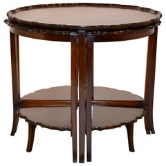 Mahogany Nest of Tables, circa 1940