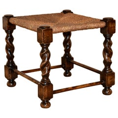 19th Century English Oak Foot Stool