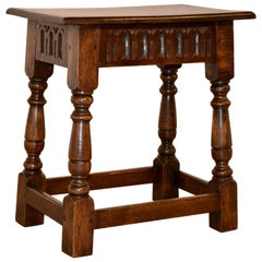 Late 19th Century Oak Joint Stool