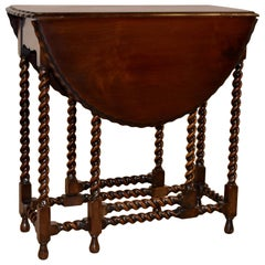 Late 19th Century Mahogany Gate Leg Table