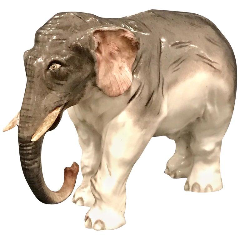 Meissen Model of an Elephant For Sale