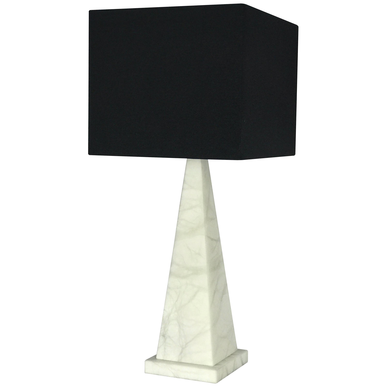 'Pyramid' Alabaster Table Lamp