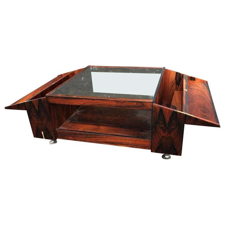 Brazilian Rosewood Coffee Table By Møbelfabrikken Sola Ganddal Of Norway For