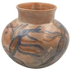 Mexican Antique Dolores Porras Clay Pottery Folk Art Ant Terracotta Vessel Vase