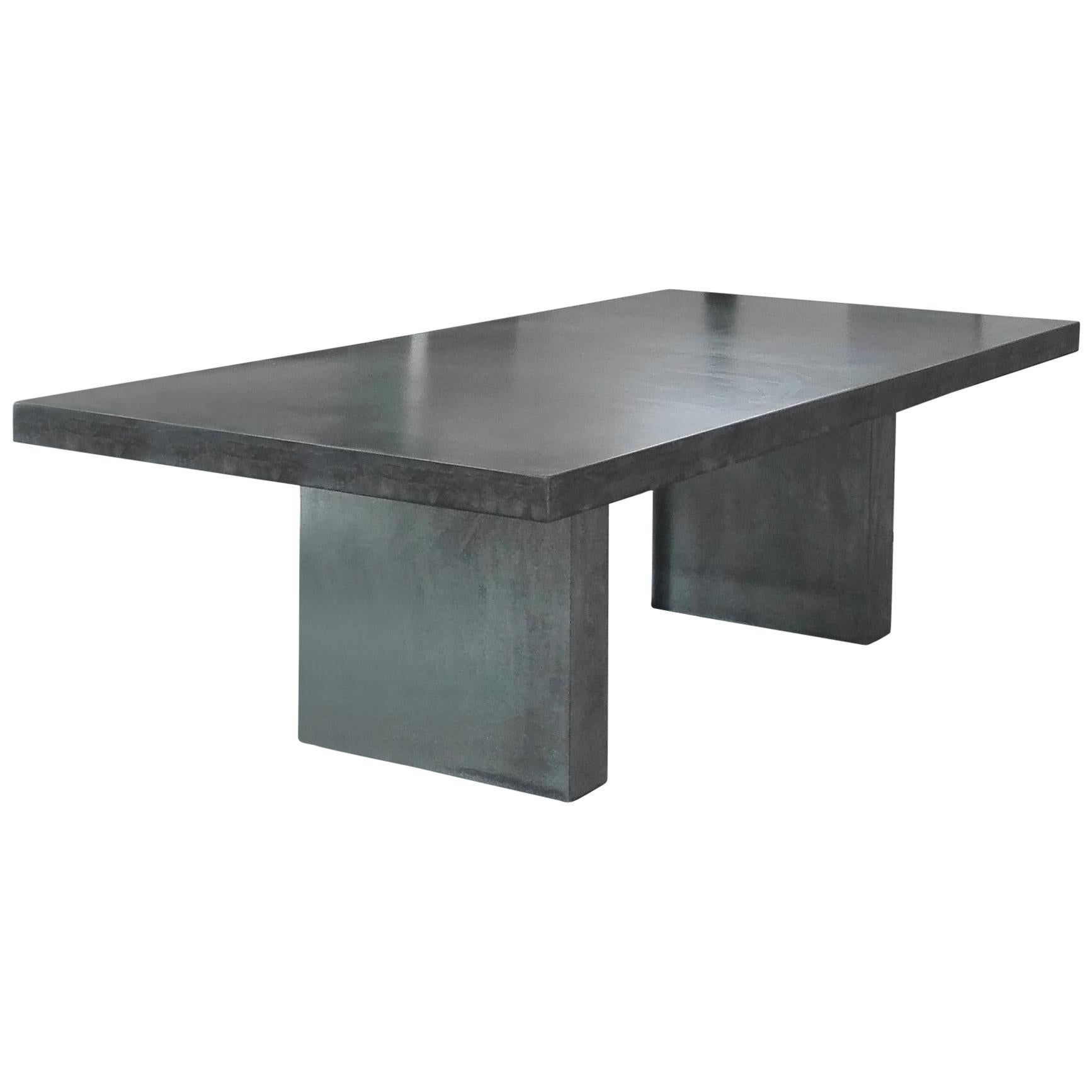 21st Century Giorgione 250, Concrete Dining Table, 100% Handcrafted in Italy