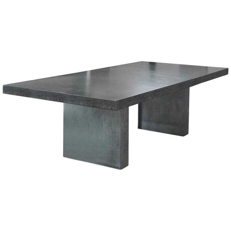 21st Century Giorgione 250 Concrete, Concrete Dining Room Table