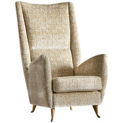 ISA High Back Armchair Attributed to Gio Ponti, Italy, 1950s