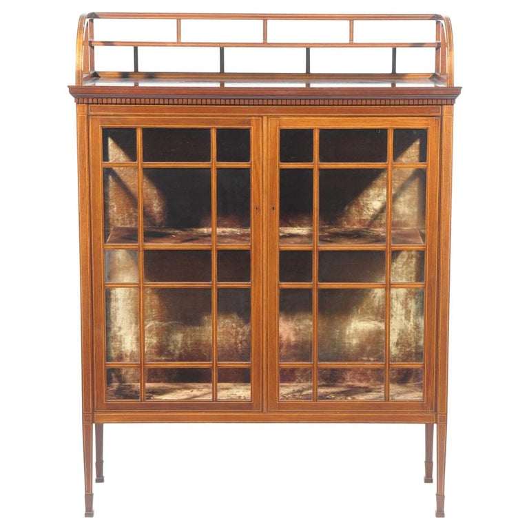 E W Godwin, Collinson & Lock, an Anglo Japanese Mahogany and Satinwood Cabinet For Sale