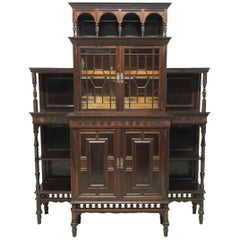 E W Godwin Attribute by Collinson & Lock Rosewood Cabinet, London Stamped 7784