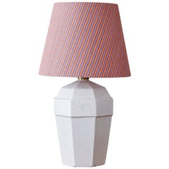 Art Deco Crackled Ceramic Table Lamp