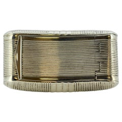 Antique George III Sterling Silver Snuff Box by William Pugh, Birmingham, 1811