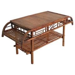 Art Deco Bamboo Coffee Table