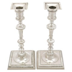 Georgian English Sterling Silver Candlesticks