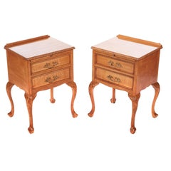 Quality Pair of Antique Maple Bedside Cabinets