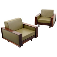 Gorgeous Pair of Celina Decoracoes Rosewood Lounge Chairs, Brazil, 1950s