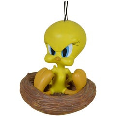 1990s French Vintage Warner Bros Tweety in His Nest Statue by Demons&Merveilles
