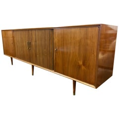 Mid Century Modern Furnette Buffet Credenza Bar Server Sideboard
