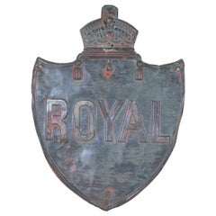 Victorian English Vintage Royal Insurance Copper Fire Plaque