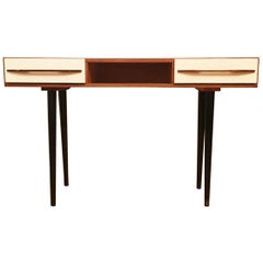 Console Table by Mojmir Pozar for UP Zavody, White
