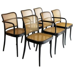 Set of 6 Josef Hoffman for Stendig Dining Chairs