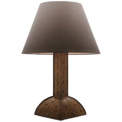 Arts And Crafts Table Lamp Whit Original Patina Craftsmanship Handmade