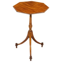 18th Century George III Period Satinwood Octagonal Tilt-Top Occasional Table