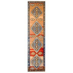 Bold Early 20th Century Azari Kilim Runner