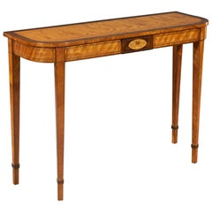 Late 18th Century West Indian Satinwood Inlaid Console Table